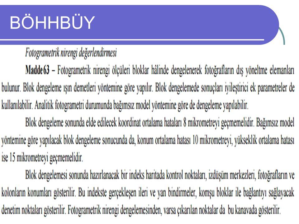 BÖHHBÜY Uzaktan Algılama Dersi, Ders Notları Yrd. Doç. Dr. Aycan M. MARANGOZ 35
