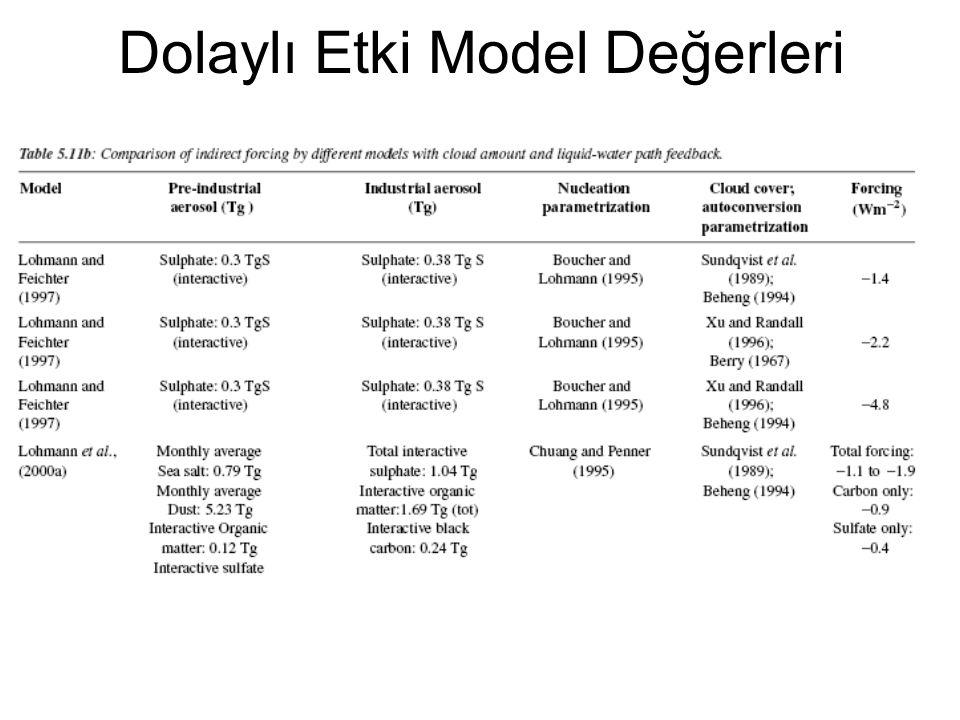 Dolaylı Etki Model Değerleri