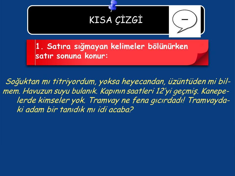 KISA ÇİZGİ 1.