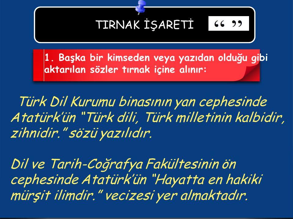 TIRNAK İŞARETİ 1.