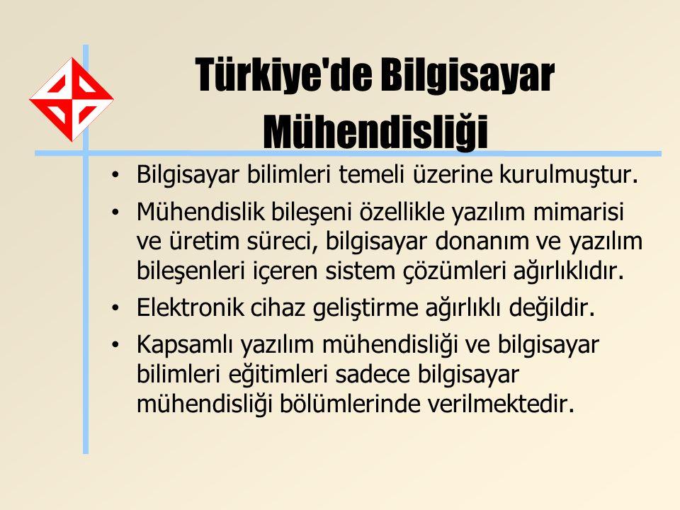 Türkiye'de Bilgisayar Mühendisliği Bilgisayar bilimleri temeli üzerine kurulmuştur. Mühendislik bileşeni özellikle yazılım mimarisi ve üretim süreci,
