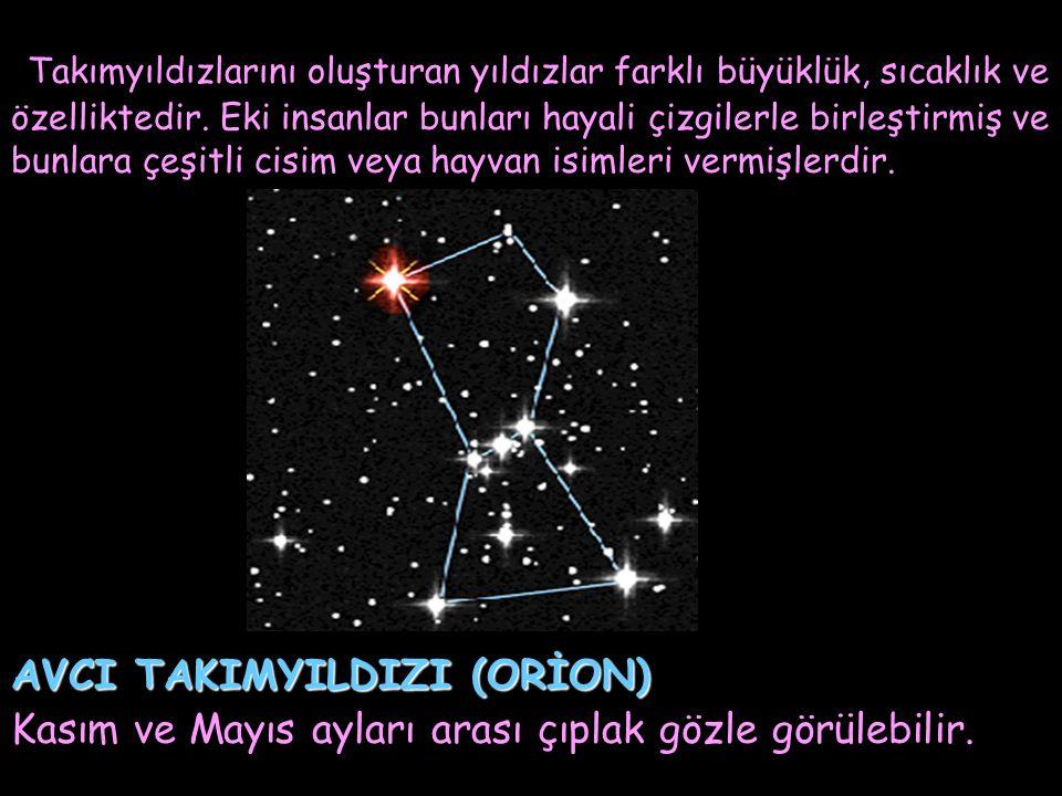 Takımyıldızlarını oluşturan yıldızlar farklı büyüklük, sıcaklık ve özelliktedir. Eki insanlar bunları hayali çizgilerle birleştirmiş ve bunlara çeşitl