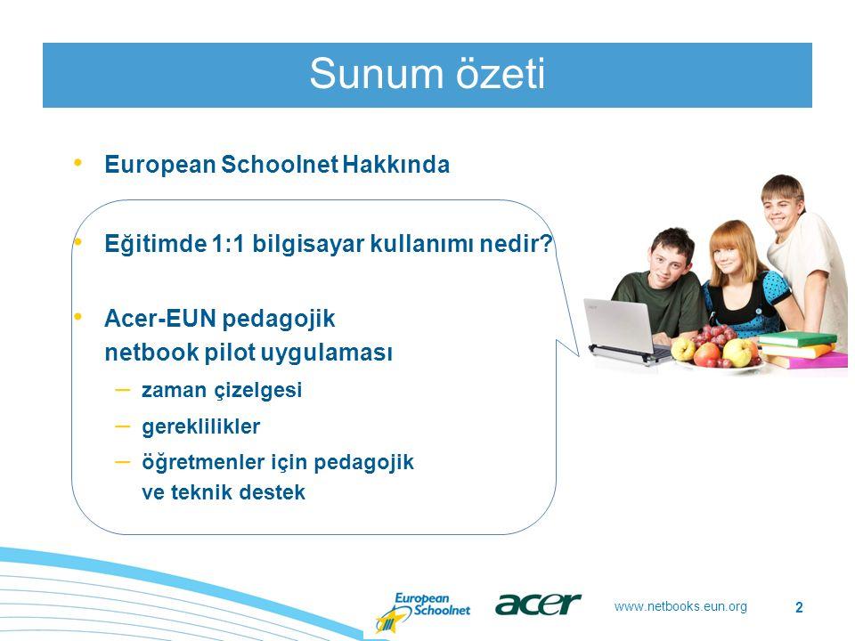 www.netbooks.eun.org Öğretmenlere pedagojik senaryolarla destek