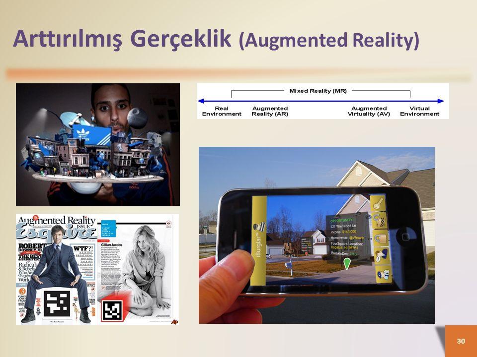 Arttırılmış Gerçeklik (Augmented Reality) 30