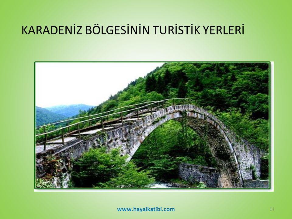 KARADENİZ BÖLGESİNİN TURİSTİK YERLERİ www.hayalkatibi.com 11