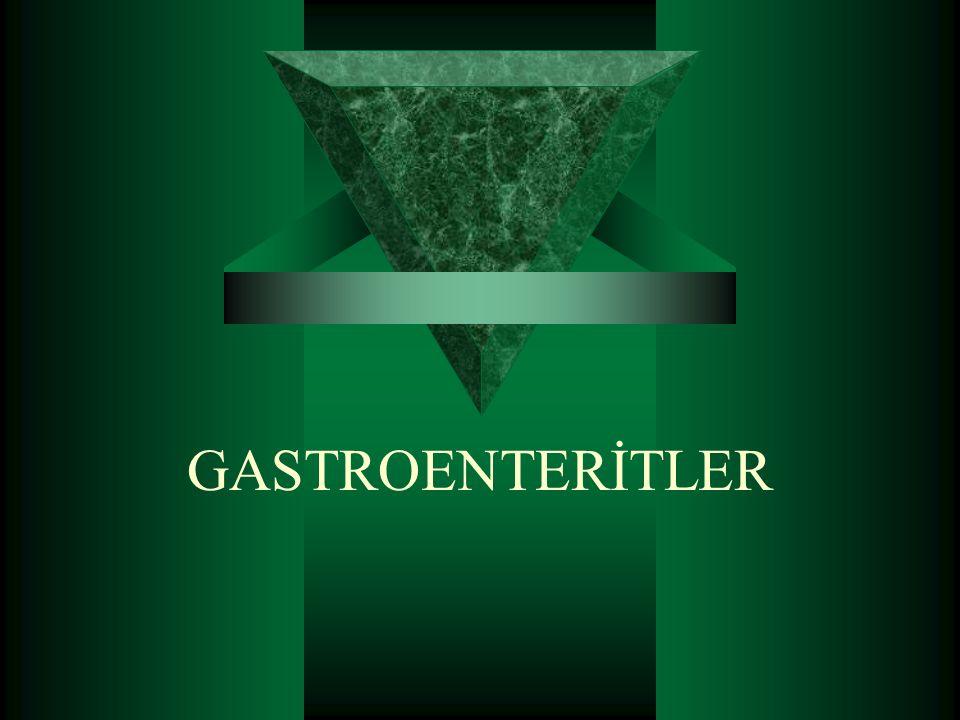  Gastroenteritler, günümüzde tüm dünyada önemli bir sağlık sorunu oluşturmayı sürdürmektedir.