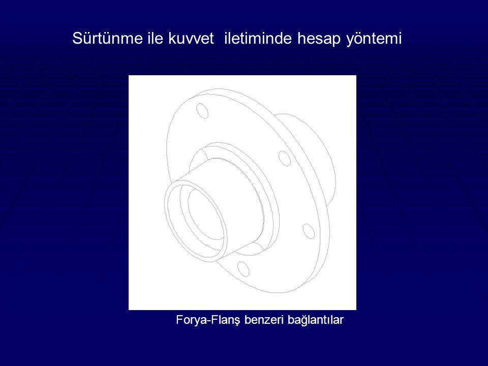 Forya-Flanş benzeri bağlantılar Forya Sürtünme ile kuvvet iletiminde hesap yöntemi