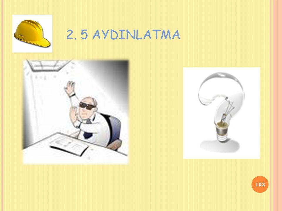 2. 5 AYDINLATMA 103