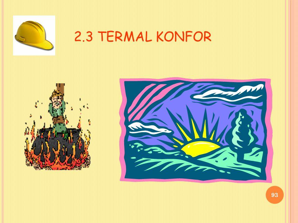 2.3 TERMAL KONFOR 93