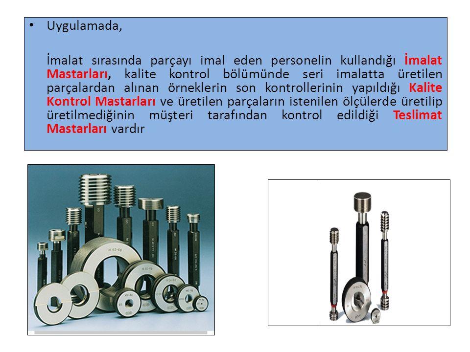 Prizmatik Mastarlar: Bu mastarlar çelik yada dökme çelikten yapılmıştır.