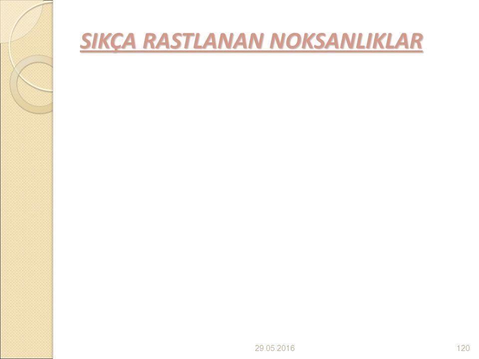 SIKÇA RASTLANAN NOKSANLIKLAR 29.05.2016120