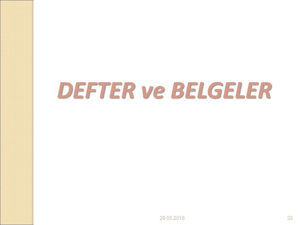 29.05.201633 DEFTER ve BELGELER