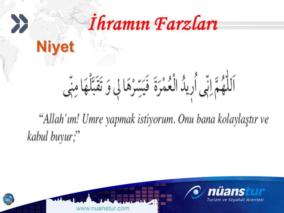 www.nuanstur.com İhramın Farzları Niyet