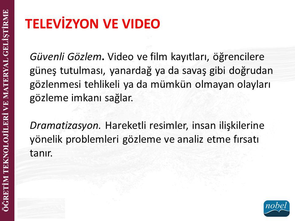 TELEVİZYON VE VIDEO Güvenli Gözlem.
