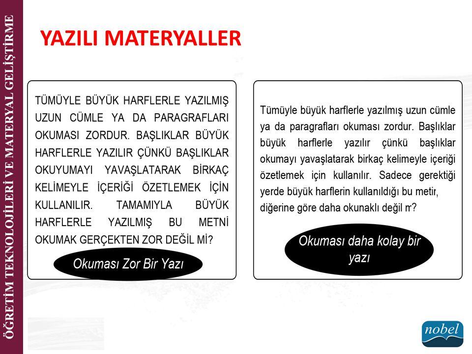 YAZILI MATERYALLER