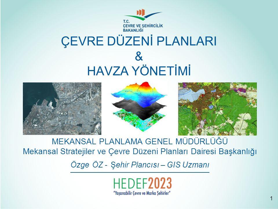 MEVCUT DURUM ANALİZİ Kalkınma Planları Stratejik Planlar Bölge Planları Türkiye ve bölgesindeki yeri Ülke ulaşım ağındaki yeri İdari bölünüş ve sınırlar Mevcut arazi kullanımı, Yerleşme alanlarının karakteristik özellikleri ve mekânsal gelişme eğilimleri ve potansiyelleri, Planlama alanına yönelik bölgesel ölçekli kamu projeleri ve yatırım kararları, Onaylı imar planları *DOĞAL YAPI ANALİZİ 1) Jeolojik yapı (depremsellik ve fay hatları vb), 2) Jeomorfolojik yapı (topografya, eğim durumu vb), 3) Hidrolojik- hidrojeolojik yapı (Göller, barajlar, akarsular, taşkın alanları, yeraltı ve yüzeysel su kaynakları, havza sınırları), 4) İklimsel özellikler, 5) Toprak niteliği ve tarımsal arazi kullanımı, 6) Ekolojik yapı (ekosistem tipleri, flora ve fauna varlığı) SOSYO-EKONOMİK YAPI ANALİZİ Demografik yapı, Sosyal yapı, Ekonomik yapı DOĞAL VE YASAL EŞİK ANALİZİ Koruma statüsü verilmiş alanlar Orman alanları, mera, yaylak, kışlak alanları, Kültür ve turizm gelişim ve koruma bölgeleri, turizm merkezleri Askeri alanlar, askeri yasak bölgeler ve güvenlik bölgeleri, Çevre Sorunları TEKNİK ALTYAPI ANALİZİ 1) Ulaşım, 2) Enerji, 3) Atık geri kazanım ve bertaraf tesisleri, 4) İçme suyu ve atık su arıtma tesisleri, 5) Atık su deşarj yerleri, 6) Tarımsal sulama alanları ÇEVRE DÜZENİ PLANI 2.5.