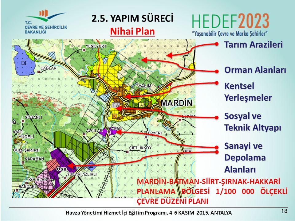 Tarım Arazileri Orman Alanları Kentsel Yerleşmeler Sosyal ve Teknik Altyapı Sanayi ve Depolama Alanları MARDİN-BATMAN-SİİRT-ŞIRNAK-HAKKARİ PLANLAMA BÖ