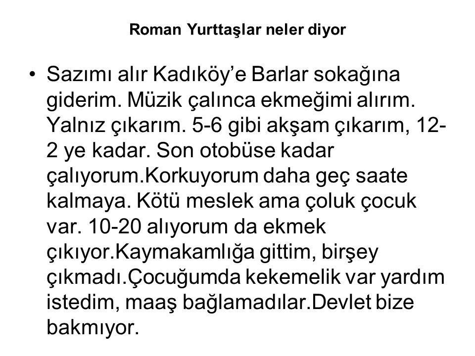 Roman Yurttaşlar neler diyor Sazımı alır Kadıköy'e Barlar sokağına giderim.