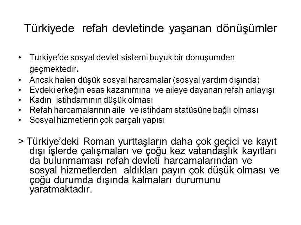 Türkiyede refah devletinde yaşanan dönüşümler Türkiye'de sosyal devlet sistemi büyük bir dönüşümden geçmektedir.
