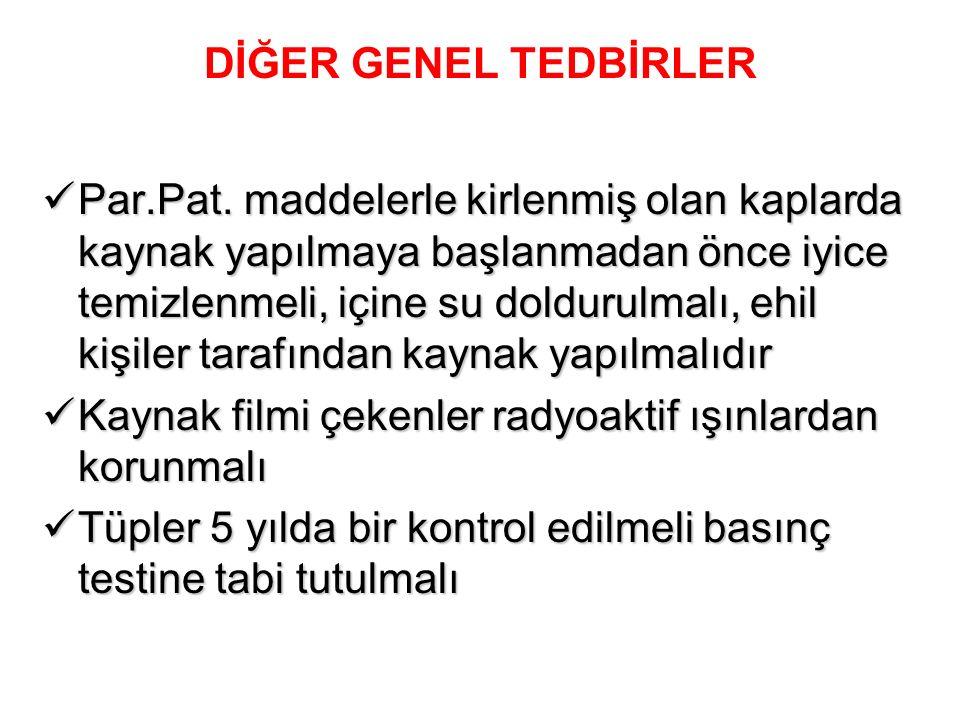 DİĞER GENEL TEDBİRLER Par.Pat.