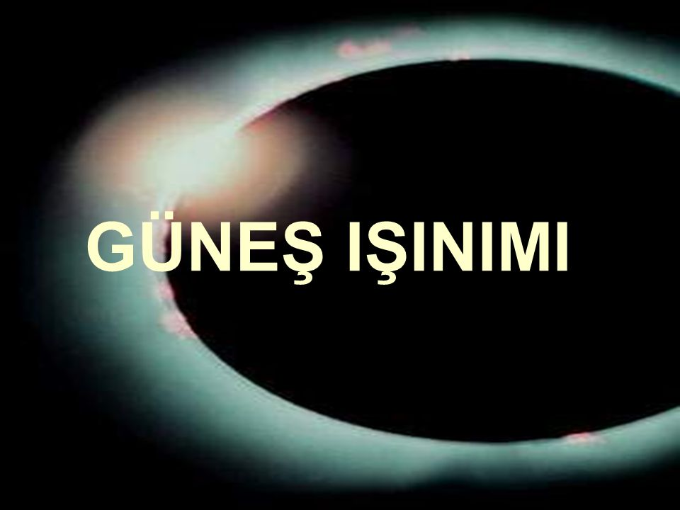 www.slaytyerim.com GÜNEŞ IŞINIMI
