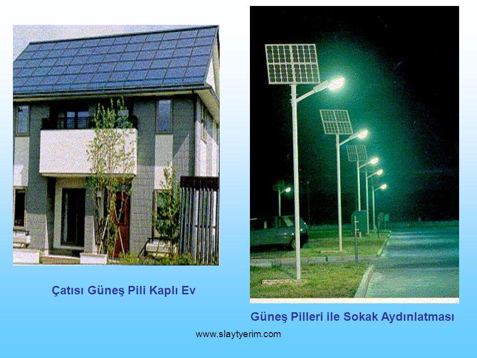 www.slaytyerim.com Çatısı Güneş Pili Kaplı Ev Güneş Pilleri ile Sokak Aydınlatması