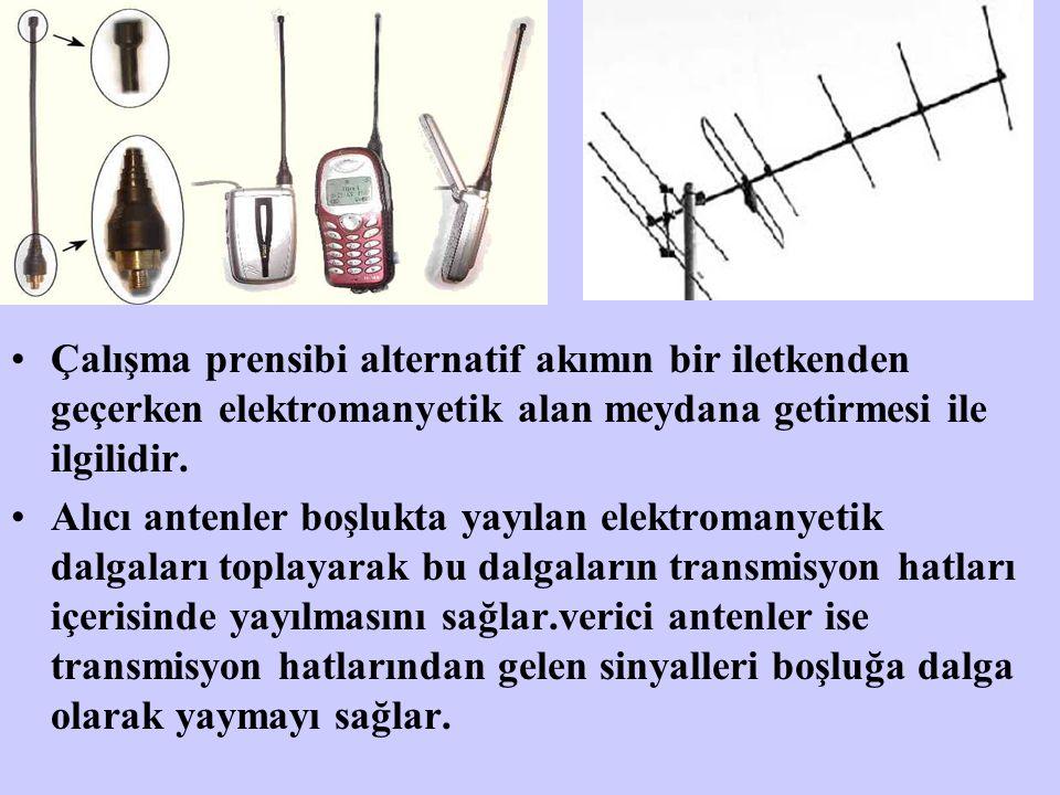 Çalışma prensibi alternatif akımın bir iletkenden geçerken elektromanyetik alan meydana getirmesi ile ilgilidir. Alıcı antenler boşlukta yayılan elekt