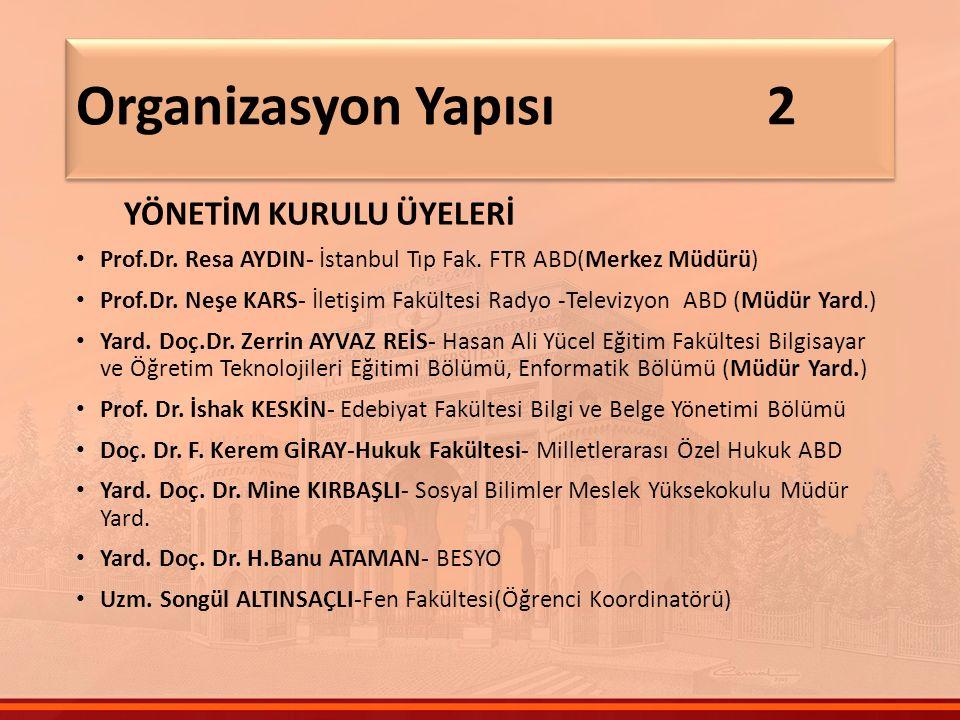 YÖNETİM KURULU ÜYELERİ Prof.Dr. Resa AYDIN- İstanbul Tıp Fak.