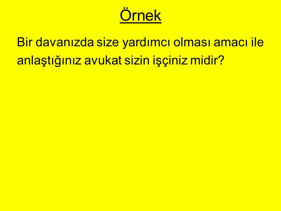 ÖRNEK Caner, bir üniversitenin endüstri mühendisliği bölümü öğrencisidir.