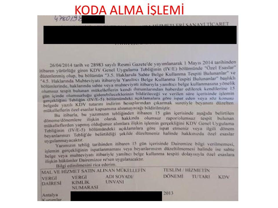 KODA ALMA İŞLEMİ