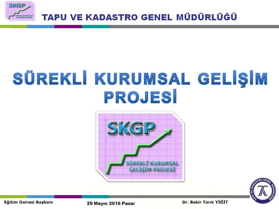 SKGP KAPSAMINDA YAPILAN EĞİTİMLER 29 Mayıs 2016 Pazar Sürekli Kurumsal Gelişim Projesi kapsamında bugüne kadar toplam 1008 personel eğitime alınmıştır.