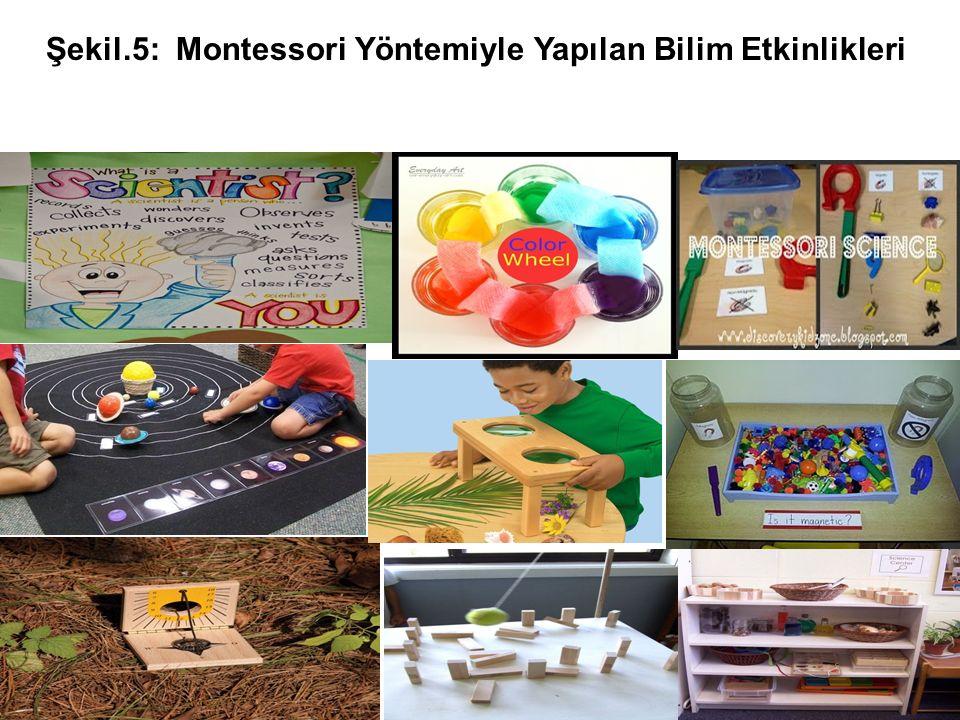 Şekil.5: Montessori Yöntemiyle Yapılan Bilim Etkinlikleri