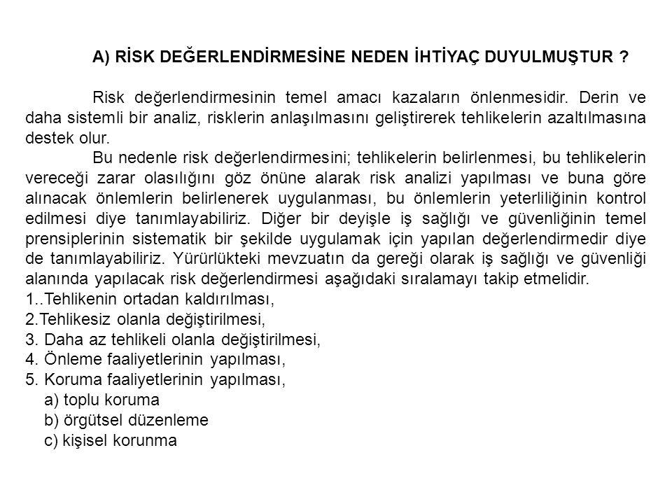 Daha geniş bir çerçeveden bakarsak risk yönetimi ise bu önlemlerin uygulanmasının kontrolünü, yeniden değerlendirilmesini aksayan hususların saptanmasını ve gerekiyorsa yeniden risk değerlendirme yapılmasını kapsar.