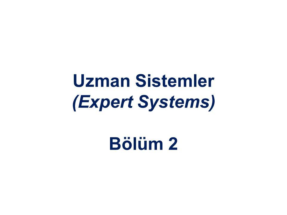 Uzman Sistemler (Expert Systems) Bölüm 2