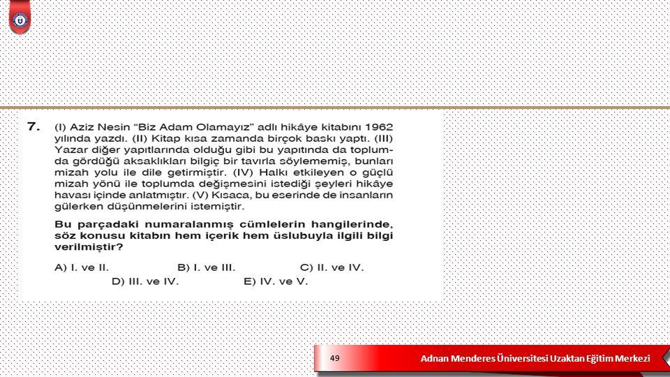 Adnan Menderes Üniversitesi Uzaktan Eğitim Merkezi 49