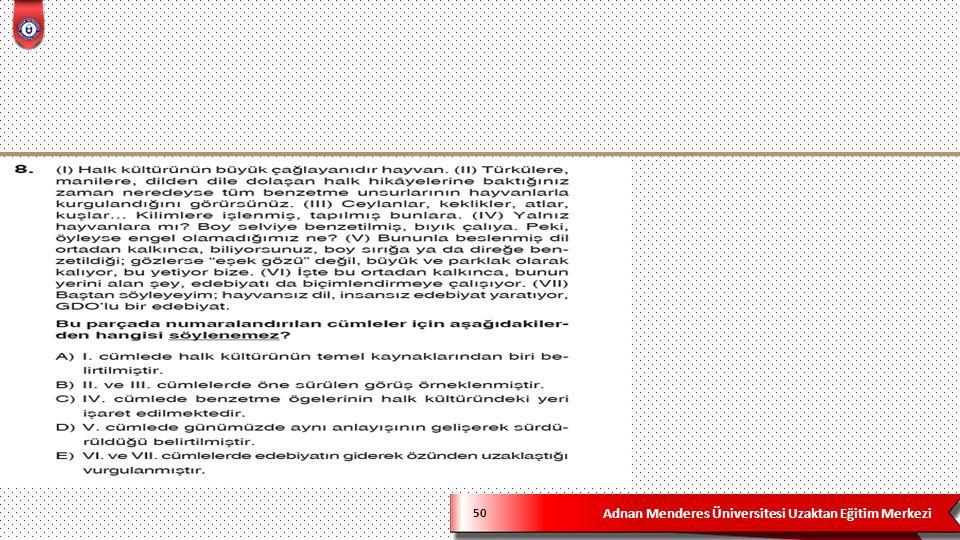 Adnan Menderes Üniversitesi Uzaktan Eğitim Merkezi 50