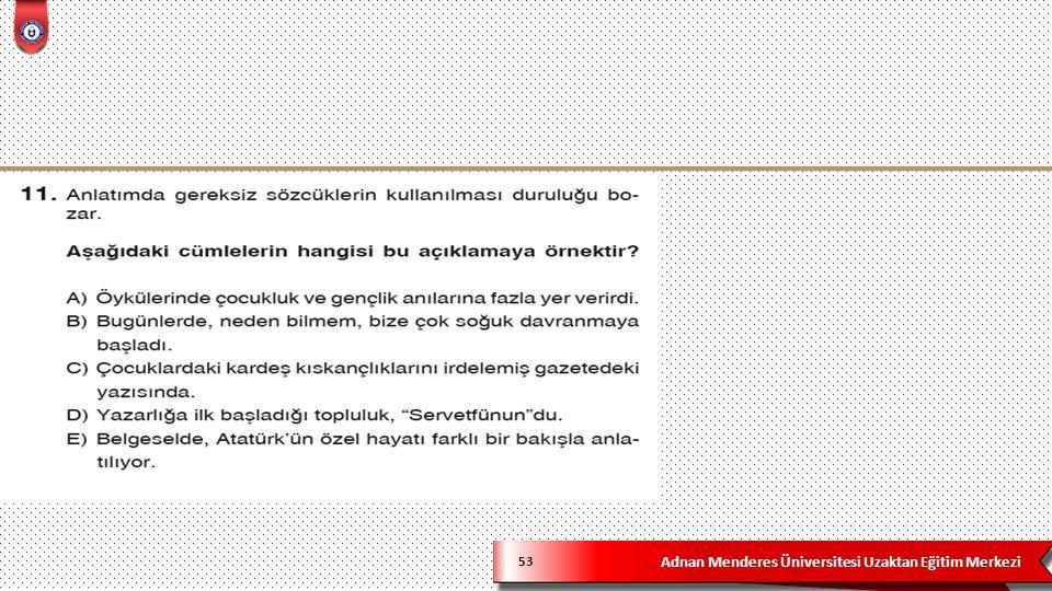 Adnan Menderes Üniversitesi Uzaktan Eğitim Merkezi 53
