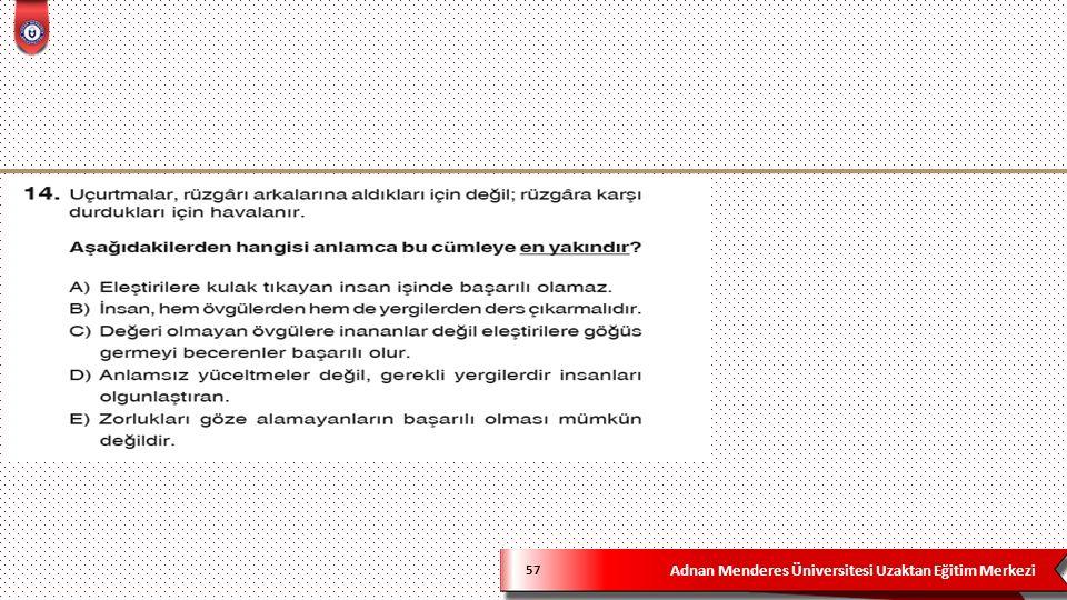 Adnan Menderes Üniversitesi Uzaktan Eğitim Merkezi 57