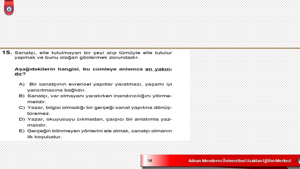Adnan Menderes Üniversitesi Uzaktan Eğitim Merkezi 58