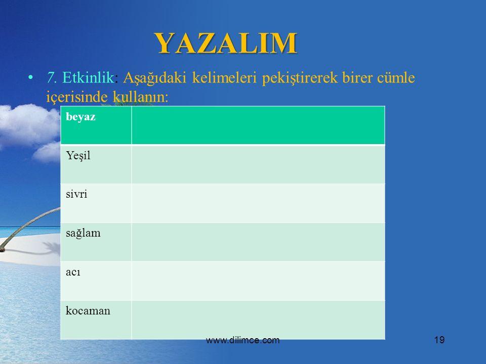 YAZALIM 7.