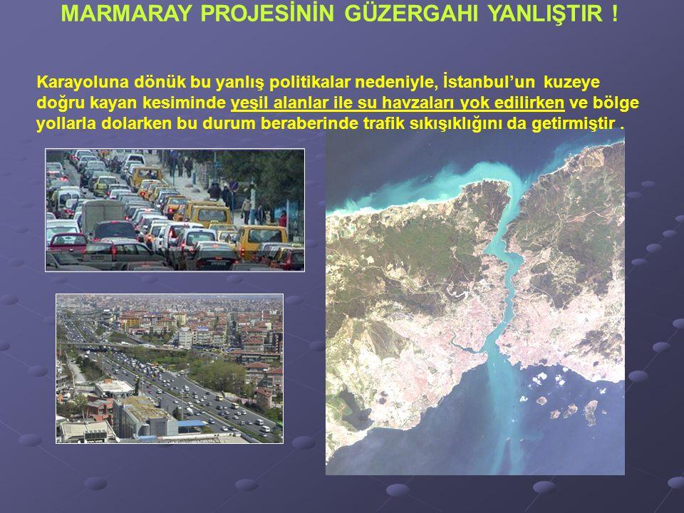 Karayoluna dönük bu yanlış politikalar nedeniyle, İstanbul'un kuzeye doğru kayan kesiminde yeşil alanlar ile su havzaları yok edilirken ve bölge yollarla dolarken bu durum beraberinde trafik sıkışıklığını da getirmiştir.