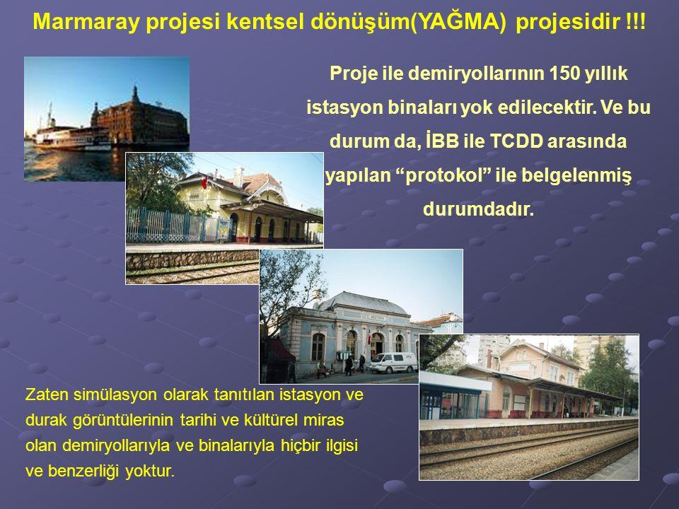 Zaten simülasyon olarak tanıtılan istasyon ve durak görüntülerinin tarihi ve kültürel miras olan demiryollarıyla ve binalarıyla hiçbir ilgisi ve benzerliği yoktur.