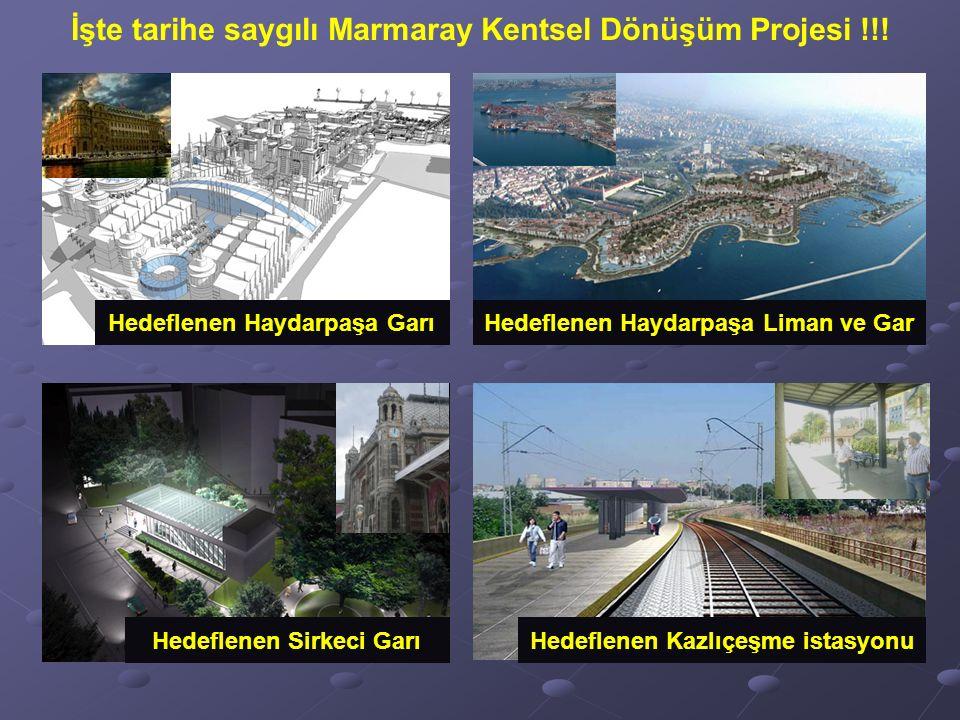 Hedeflenen Haydarpaşa Garı Hedeflenen Sirkeci GarıHedeflenen Kazlıçeşme istasyonu Hedeflenen Haydarpaşa Liman ve Gar İşte tarihe saygılı Marmaray Kentsel Dönüşüm Projesi !!!