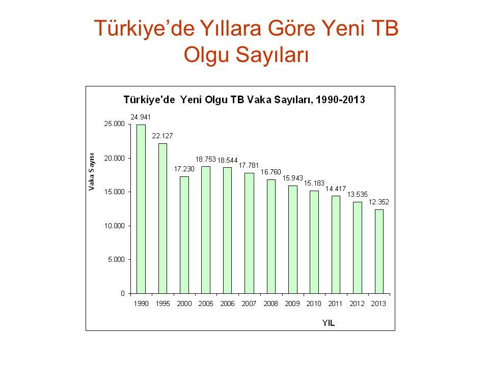 Türkiye'de Yıllara Göre Yeni TB Olgu Sayıları
