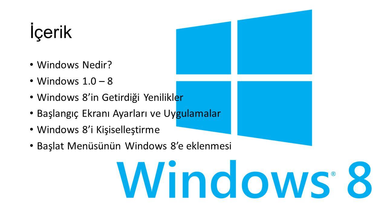 İçerik Windows Nedir.