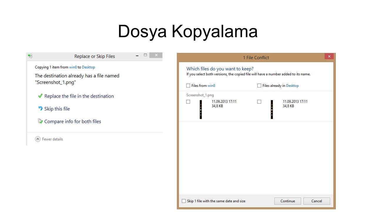 Dosya Kopyalama