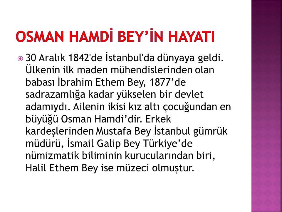  30 Aralık 1842'de İstanbul'da dünyaya geldi. Ülkenin ilk maden mühendislerinden olan babası İbrahim Ethem Bey, 1877'de sadrazamlığa kadar yükselen b