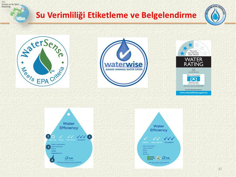 41 Su Verimliliği Etiketleme ve Belgelendirme