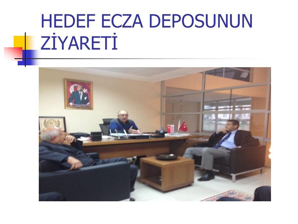 HEDEF ECZA DEPOSUNUN ZİYARETİ