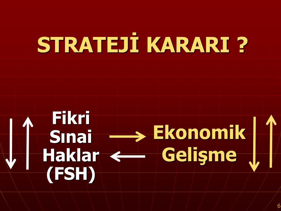 37 T Ü R K İ Y E ' d e PATENT STRATEJİSİ 1871'den 2012'ye